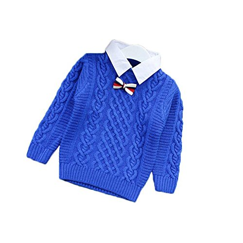 Kid Baby Knitted Pullover Detachable Collar Sweater 5wefj1010887