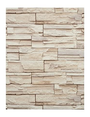 York Wallcoverings RN1039 Modern Rustic Travertine Wallpaper (Fireplace Wallpaper)