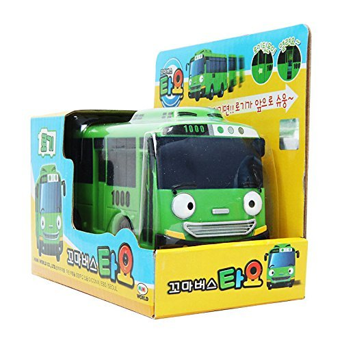 Rogi green bus / Tayo little bus pull back function mini car (standard & sweety)