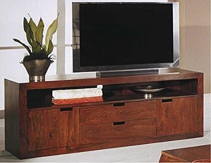 Ethnic Chic Mobile porta tv etnico con cassetti in legno massello ...