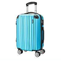 Amasava valigie rigide ABS hard shell super leggero da viaggio Carry On trolley 8 ruote valigia,55cm/43L,65cm/67L,75cm/103L,lucchetto TSA, 4 ruote multidirezionali