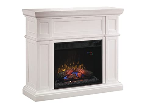 Classic Flame 28WM426-T401 Artesian Wall Fireplace Mantel, White (Electric  Fireplace Insert sold separately)