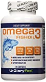 Omega 3 Fish Oil Pills (120 Counts) - 2000mg Fish Oil per serving - Burpless and Odorless Capsules - Molecularly Distilled Fish Oil (600mg DHA + 800 mg EPA per Serving)