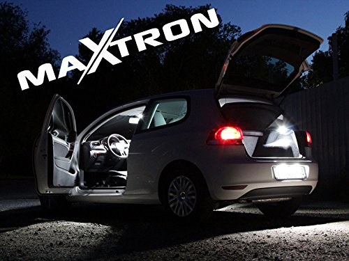 Juego de iluminaci/ón interior MaXtron para coche Avensis T27 6000 K blanco fr/ío iluminaci/ón interior juego completo