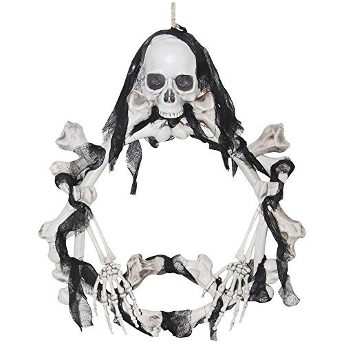 Bone Wreath Light-Up Halloween