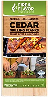 5x7 inch Maine White Cedar Oval Grilling Wood Planks Pack of 4