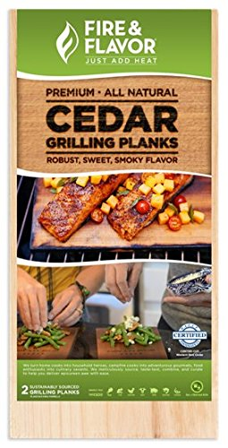 Fire & Flavor Natural Red Cedar Large Grilling Planks, 5.5 X 15 Inch, 10 Count