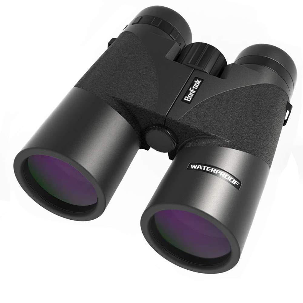 BonFook Binoculars for Adults,2019 New Compact 12x42 HD Professional IPX7 Waterproof/Fogproof,Folding Binoculars for Bird Watching,BAK4 Prism FMC Lens Clear WeaK Light Night Vision with Carrying Bag by BonFook
