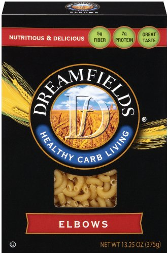 Dreamfields Pasta Healthy Carb Living, Elbow Macaroni, 13.25-Ounce Boxes (Pack of -