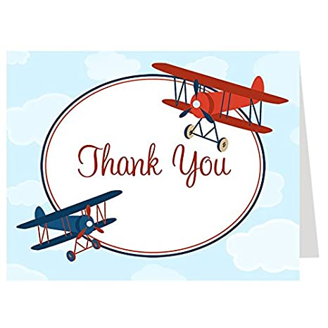 amazon com airplane thank you cards baby shower birthday little