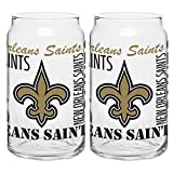 Boelter Brands NFL New Orleans Saints Spirit Glass Can, 16-Ounce, 2-Pack