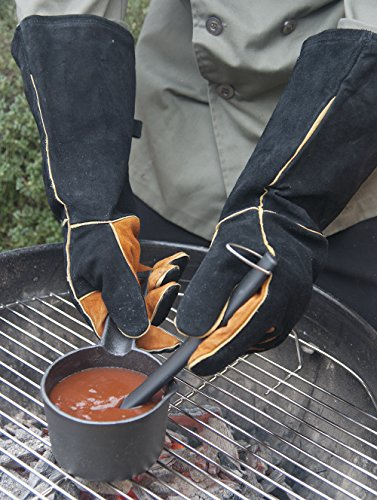 Steven Raichlen Best of Barbecue Extra Long Suede Grill Gloves (Pair) - SR8038 by Steven Raichlen Best of Barbecue (Image #3)