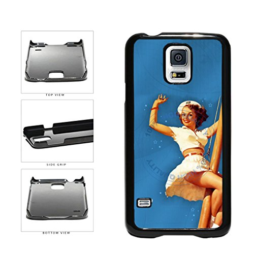 Cute Sailor Girl Plastic Phone Case Back Cover For Samsung Galaxy S5 I9600 includes BleuReign(TM) Cloth and Warranty Label (Galaxy Cola Coca Case S5)