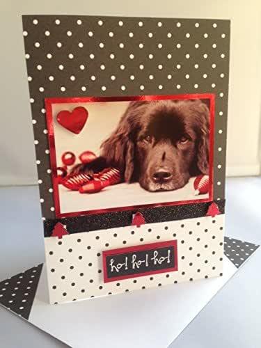 Amazon.com: Handmade NEWFOUNDLAND NEWFIE dog Christmas ho ...