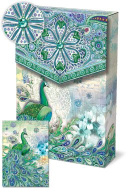 Punch Studio Pouch Note Cards #4371 Paisley Peacock