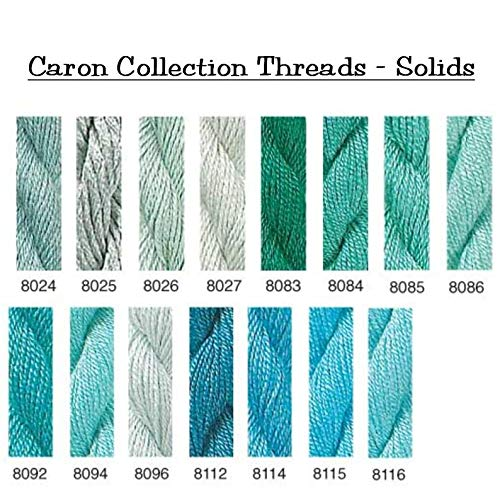 Caron Collections Soie Cristale, Hand-Dyed Threads. Color #8121, Teal Blue