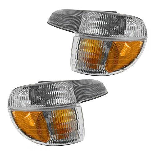 Corner Parking Turn Signal Light Lamp Left & Right Pair Set for 95-01 - 2001 Corner Explorer Ford