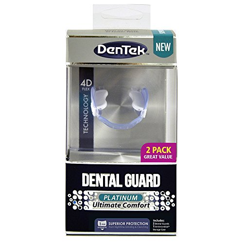 DenTek Platinum Ultimate Comfort Dental Guard Kit   2 Pack   Superior Protection for Nightime Teeth Grinding