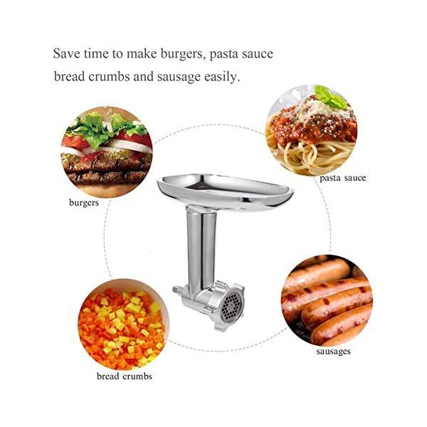 N/J Tritacarne Accessori per Insaccatrice per Salsicce, Accessorio per Tritacarne in Metallo per Robot da Cucina… 2