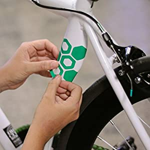 Fiks Hexalate Reflective Long Lasting Frame Stroller Sticker for Helmets, Bicycles, Strollers, Wheelchairs and More