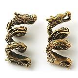 Bronze Norse Viking Dragon Beard Beads Rings, Dwarven Dreadlock Pirate Medieval Hair Beads, Pagan Jewelry