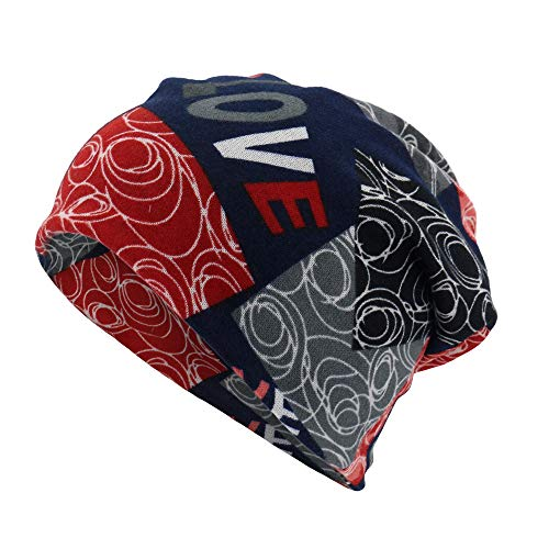 EnjoCho Unisex Stripe/Letter Print Scarf Beanie Cap Casaul Outdoor Convertible Windproof Fashion Hats 2018 ()