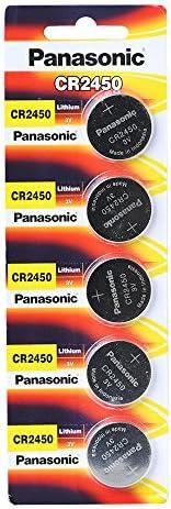 Panasonic Cr2450 Lithium Coin Cell Battery Pack Of 5 Elektronik