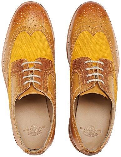 Wellensteyn Schuhe Malhony Vintage poliertes Leder Orange