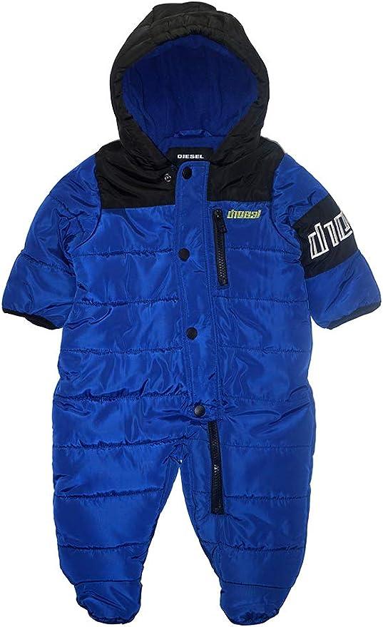 Diesel Baby Jungen Pram Daunenalternative Mantel Logo Blau Schwarz 6 9 Monate Bekleidung