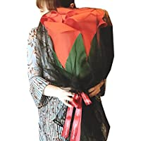 (POMAIKAI) 大きい バラ 造花 サプライズ プレゼント 誕生日 結婚記念日 プロポーズ フラワーギフト (赤)