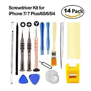 iphone repair kit. esdabem repair tool kit for iphone 7 \u2013 complete premium opening pry kits with screwdriver set apple 7, 7plus, iphone p