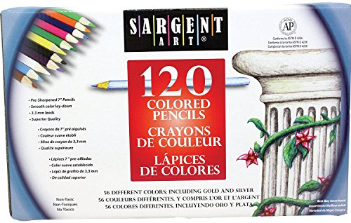 Sargent Art 2 Packs of 120 Piece Assortment Colored Pencils