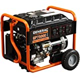 Generac 5943 GP7500E 7500 Running Watts/9375 Starting Watts Electric Start Gas Powered  Portable Generator (Discontinued by Manufacturer)