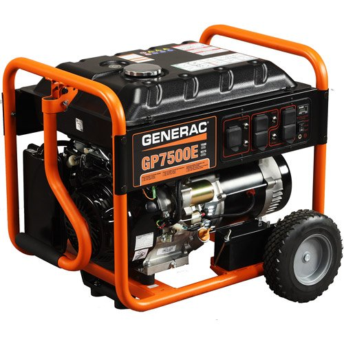 Generac 5943, 7500 Running Watts/9375 Starting Watts, Gas Powered Portable Generator, CARB Compliant