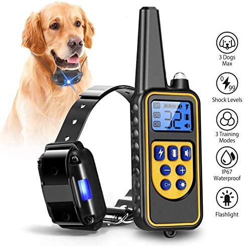 iMounTEK Shock Collar for Dogs, Bark Collar with Remote, 2020 Dog Training Collar w 3 Modes, Up to 2600Ft Remote Range, 0 99 Shock Levels, 3 Channels, for Small Medium Large Dog