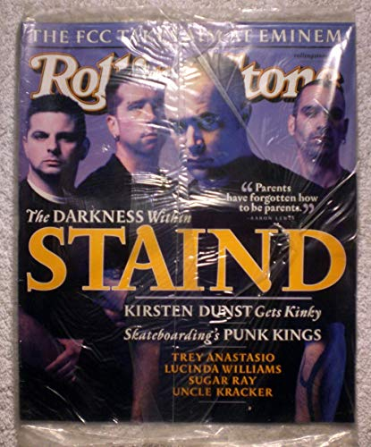 Aaron Lewis, Mike Muschok, Johnny April, Jon Wysocki - STAIND - Rolling Stone Magazine - #873 - July 19, 2001 - Skateboarding's Punk Kings, The FCC Takes Aim at Eminem, Trey Anastasio articles - No Address Label & In original cellophane! ()