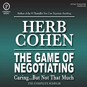 The Game of Negotiating: Caring...But Not That Much Speech