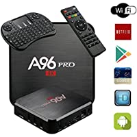 TV Box Android 6.0 A96 PRO 4K S905X Quard-core 1G+8G Wi-Fi Embedded with Wireless Keyboard