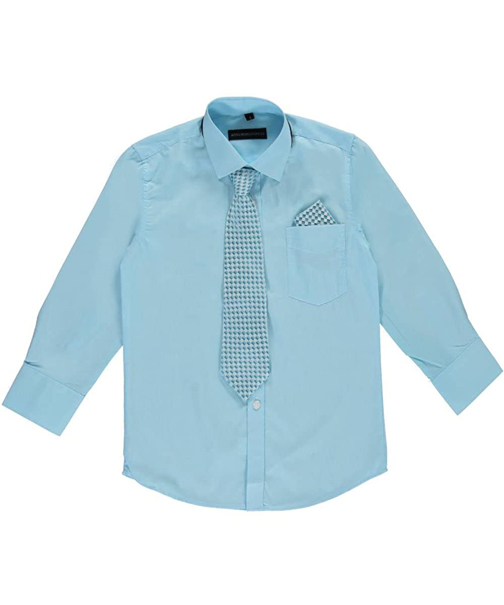 Kids World Big Boys Dress Shirt with Accessories