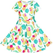 Sunny Fashion Girls Dress Owl Ice Cream Butterfly Sequin Everyday Dress