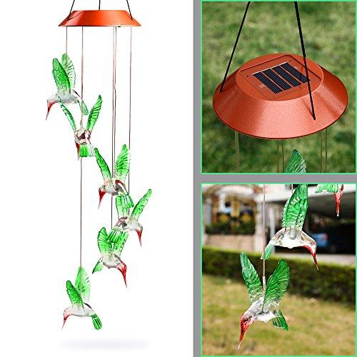 Solar Wind Powered Led Garden Light Set - 7