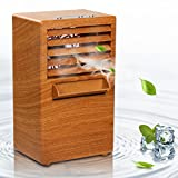 Vshow Personal Air Cooler, Mini Air Conditioner, Portable Air Cooler,Cold Air Fan| Misting Bladeless Quiet Cooling Desk Fan - Upgrade Version Burlywood
