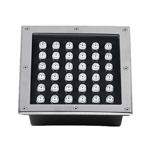 6000K IP67 AC85-265V Square Shape 36W LED Underground Path Light High Power Yard Garden Buried Lamps Outdoor Inground Lights by Generic