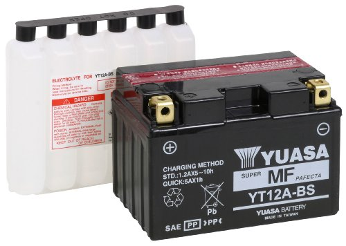 Yuasa YUAM32ABS YT12A-BS Battery (Best Motorcycle For 1000)