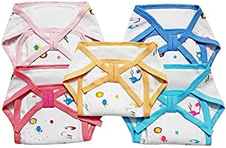 Chinmay Kids Langot Nappies Washable Cloth Diapers for New Born Baby 0 3 Months  Colour May Vary/Assorted Colours
