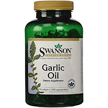Swanson Garlic Oil Equivalent to 1500 Milligrams 500 Sgels
