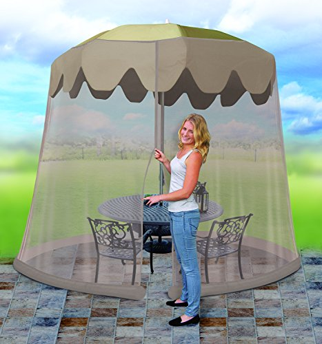 Ideaworks Outdoor 9 Foot Umbrella Table Screen, Grey by IdeaWorks