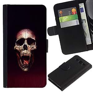 NEECELL GIFT forCITY // Billetera de cuero Caso Cubierta de protección Carcasa / Leather Wallet Case for Samsung Galaxy S3 III I9300 // Cráneo Blood Vampire