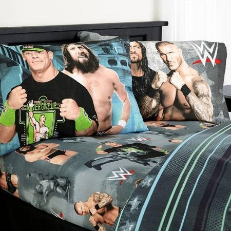 WWE Industrial Strength Twin Bedding Comforter and Twin Sheet Set by WWE by WWE