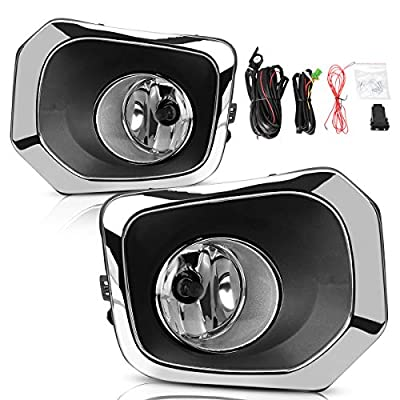 Fog Lights Compatible with 2016 2020 2020 2020 Toyota Tacoma, Driving Fog Lamps with Switch Wiring Harness Bumper Bulb Kit: Automotive